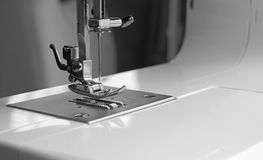 Presser foot of sewing machine stock photos