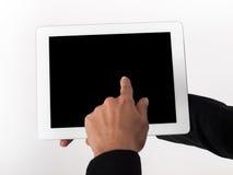 Presses de doigt sur l'écran tactile Photos stock