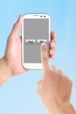 Pressez non au téléphone portable images stock