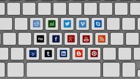 Pressez vos sites sociaux de media Photographie stock libre de droits