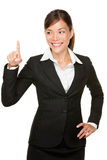 Pressing button business woman Stock Image