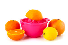 Pressing citrus fruit Royalty Free Stock Image