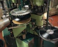 Pressing de disque vinyle photo libre de droits