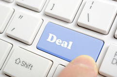 Pressing deal key Royalty Free Stock Photo