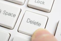 Pressing delete key Stock Photos
