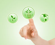 Pressing ecology sing Royalty Free Stock Photo