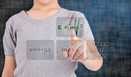Pressing equation and scintilla concept Stock Photography