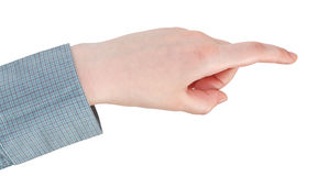 Pressing by index finger - hand gesture Royalty Free Stock Photography