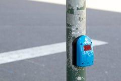 Pressing sensor of pedestrian light Stock Photo