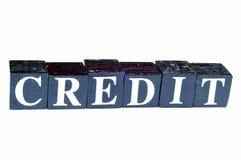pression de crédit Photographie stock