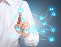 Pressionando botões sociais modernos Imagem de Stock Royalty Free