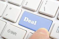 Pressionando a chave do negócio Foto de Stock Royalty Free
