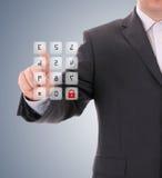 Pressionando o código de segurança. Imagem de Stock Royalty Free
