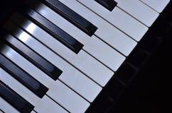 Pressione as chaves do piano Fotos de Stock
