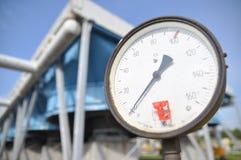 Pressione, attrezzatura, manometro Fotografia Stock Libera da Diritti
