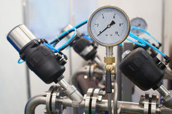 Pressione-calibro Fotografia Stock