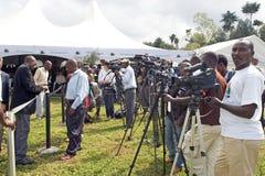 Pressione na cerimónia de Kwita Izina fotografia de stock