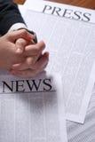 Pressione a notícia Imagem de Stock