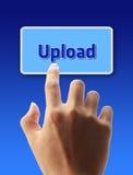 Pressione o botão da transferência de arquivo pela rede Foto de Stock