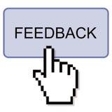 Pressione o botão do feedback Fotografia de Stock Royalty Free