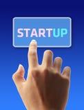 Pressione o botão Startup Foto de Stock Royalty Free