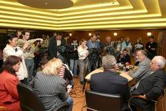 Presskonferens Royaltyfri Foto