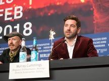 Presskonferens för `-låtskrivare` under den 68th Berlinale festivalen 2018 Royaltyfri Foto