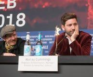 Presskonferens för `-låtskrivare` under den 68th Berlinale festivalen 2018 Royaltyfria Bilder