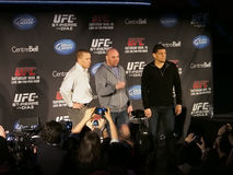Presskonferens för UFC 158 Arkivbilder