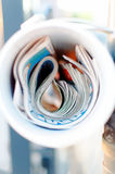 Pressläktare Arkivfoto