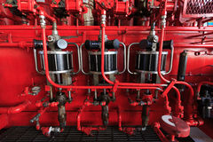 Pressluftbetätigte Pumpe für Akkumulator (Koomey-Einheit) Lizenzfreies Stockbild