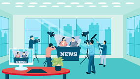 Pressman and TV reporter video animation footage. Pressman and operator visualization with reporter journalists celebrities news available in 4k UHD FullHD and stock video footage