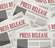 pressmeddelandeinformationsbladbakgrund stock illustrationer
