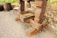 Pressoir en bois Photo libre de droits