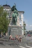 Preseren square, Ljubljana, Slovenia Royalty Free Stock Images