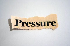 Pressure. Word pressure over white background Royalty Free Stock Images