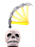 Pressure. Concept image showing hammer on human skull Stock Image