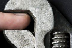Pressure. Necessary french key, big presure stock images