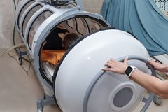 A pressure chamber. stock image