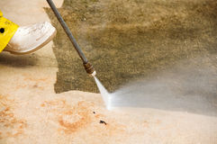 Pressure cleaning Stock Image
