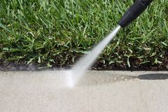 Pressure Cleaning. Image of pressure cleaning on a sunny day Stock Photography