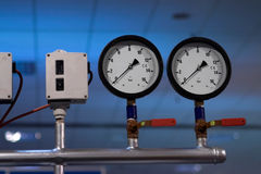 Pressure clocks Stock Photography