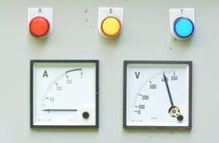 Pressure control panel Stock Image
