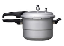 Pressure cooker. In white background Stock Photos