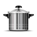 Pressure cooker. For cooking over white royalty free illustration