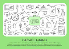 Pressure cooker elements Royalty Free Stock Image
