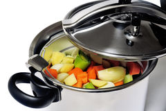 Pressure cooker stainless steel Royalty Free Stock Image