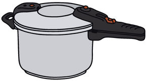 Pressure cooker. Vector illustration of hand drawn pressure cooker Stock Photo