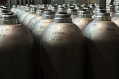 Pressure cylinders stock image
