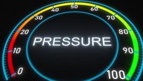 Pressure futuristic meter or indicator. Conceptual 3D rendering. Futuristic meter conceptual 3D rendering Royalty Free Illustration